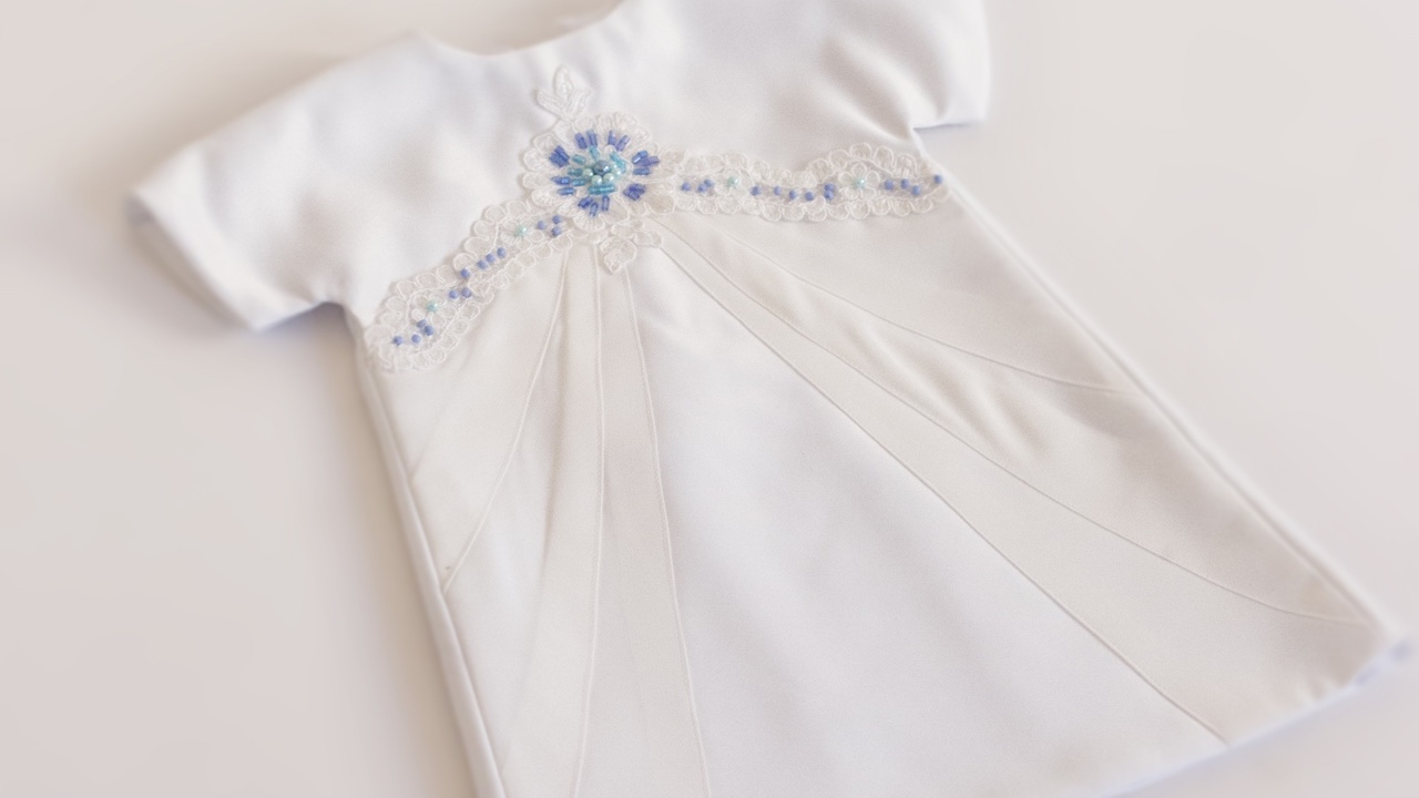 White Newborn Angel Gown